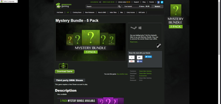 Mystery Bundle from Greenman Gaming