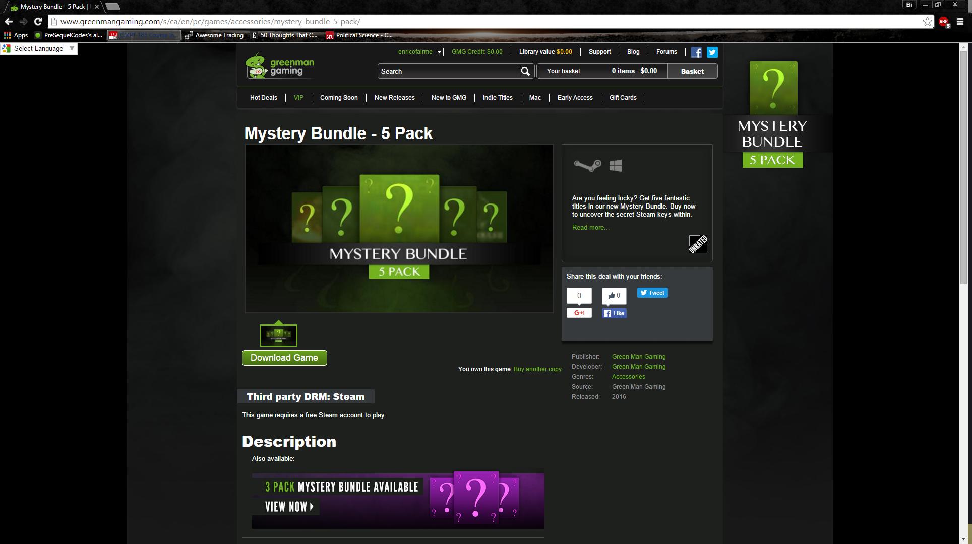 Mystery Bundles Greenman Gaming
