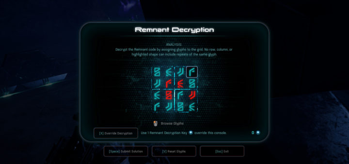 Mass Effect Andromeda Glyph Puzzle Solutions