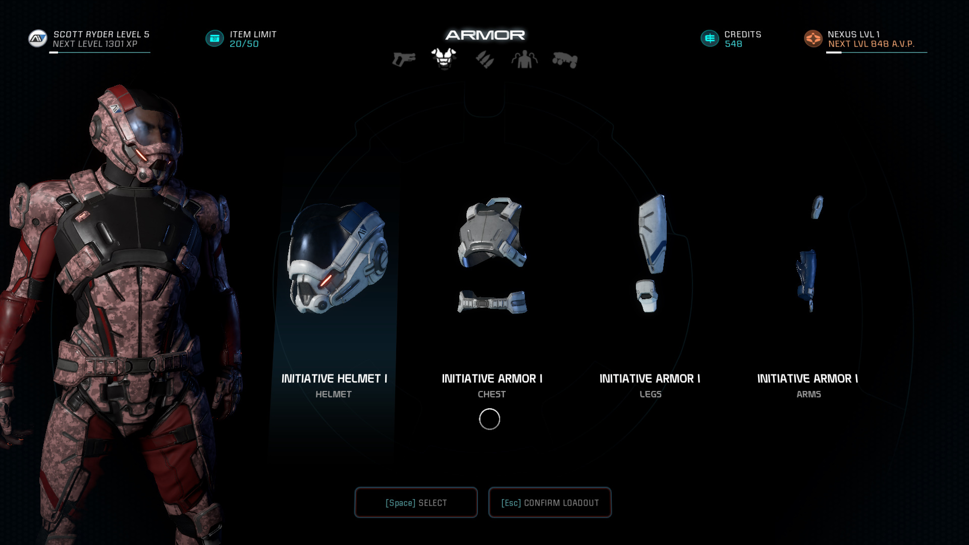 Mass Effect Andromeda Armor List