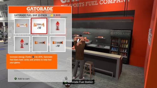 NBA 2K18 Gatorade