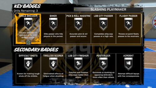 NBA 2K18 MyPLAYER Training Guide
