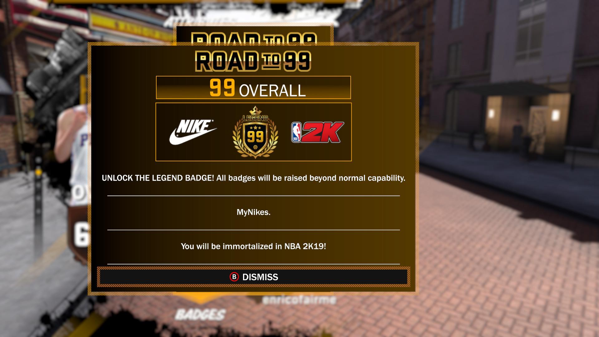 NBA 2K18 MyPLAYER Level Unlocks