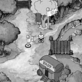 black and white mode cuphead