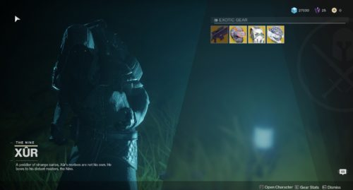 Image showing Xur in Detiny 2.