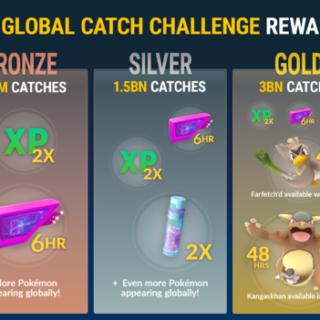 Pokemon Go Global Catch Challenge Rewards