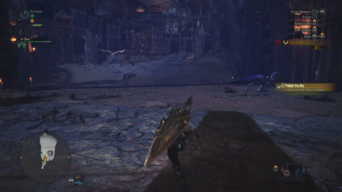Image of the arena where you undertale the Lessons of the Wild event in Monster Hunter: World
