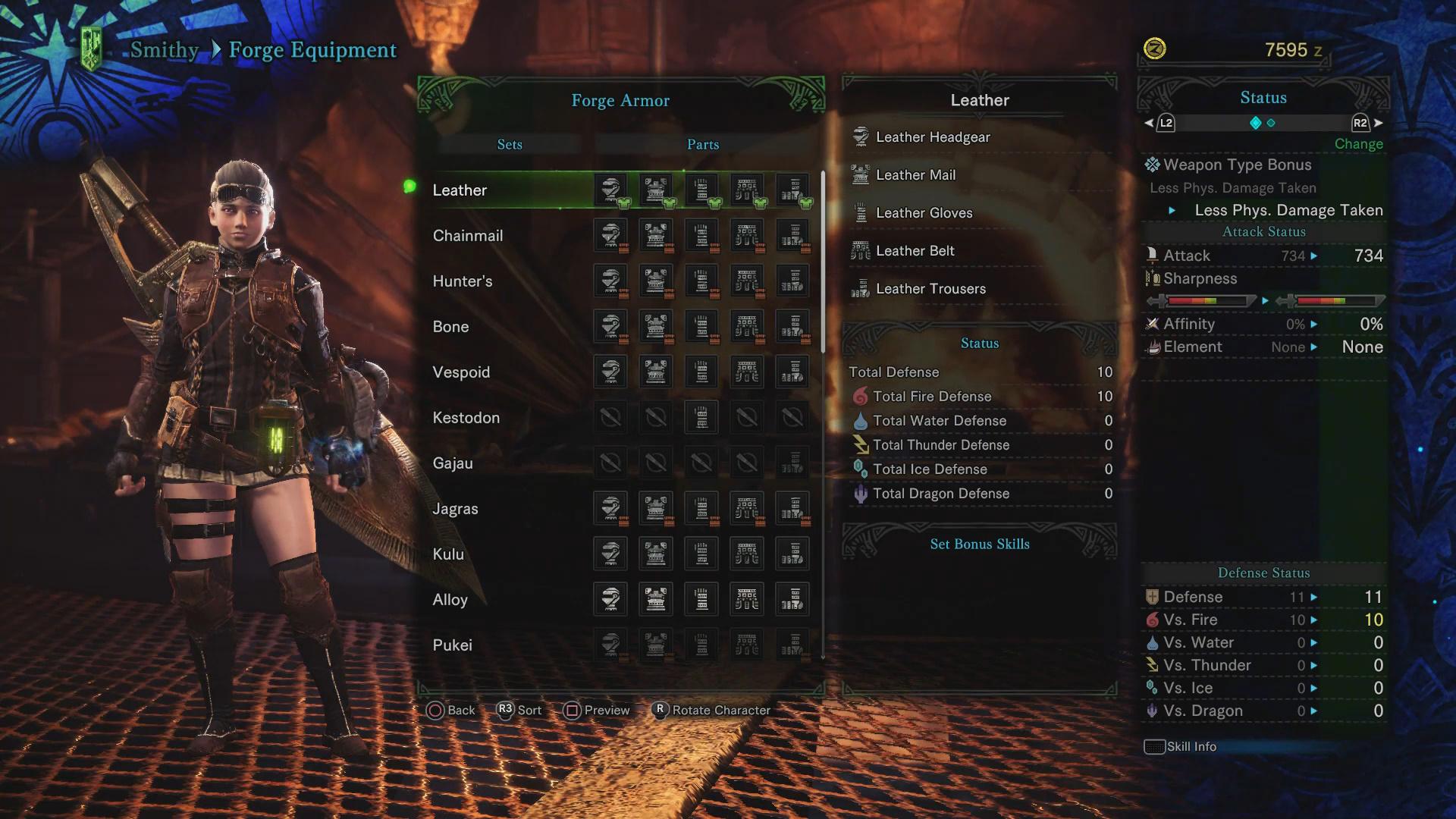 Rarity 1 Armor Sets - Monster Hunter World
