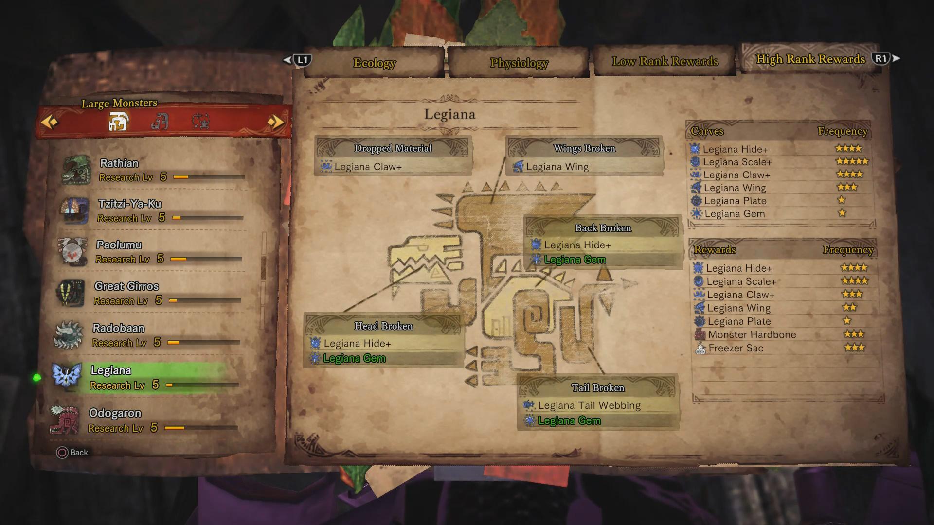 Legiana Guide: Monster Weakness, Carves & Rewards, Armor Sets