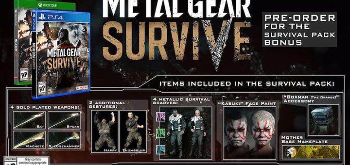 Metal Gear Solid Survive Preorder Bonus