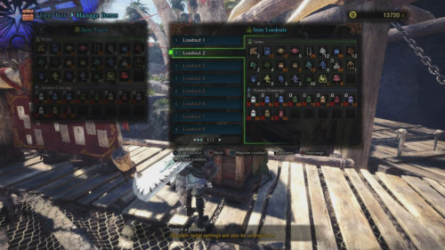 Image shows the Item Box in Monster Hunter: World
