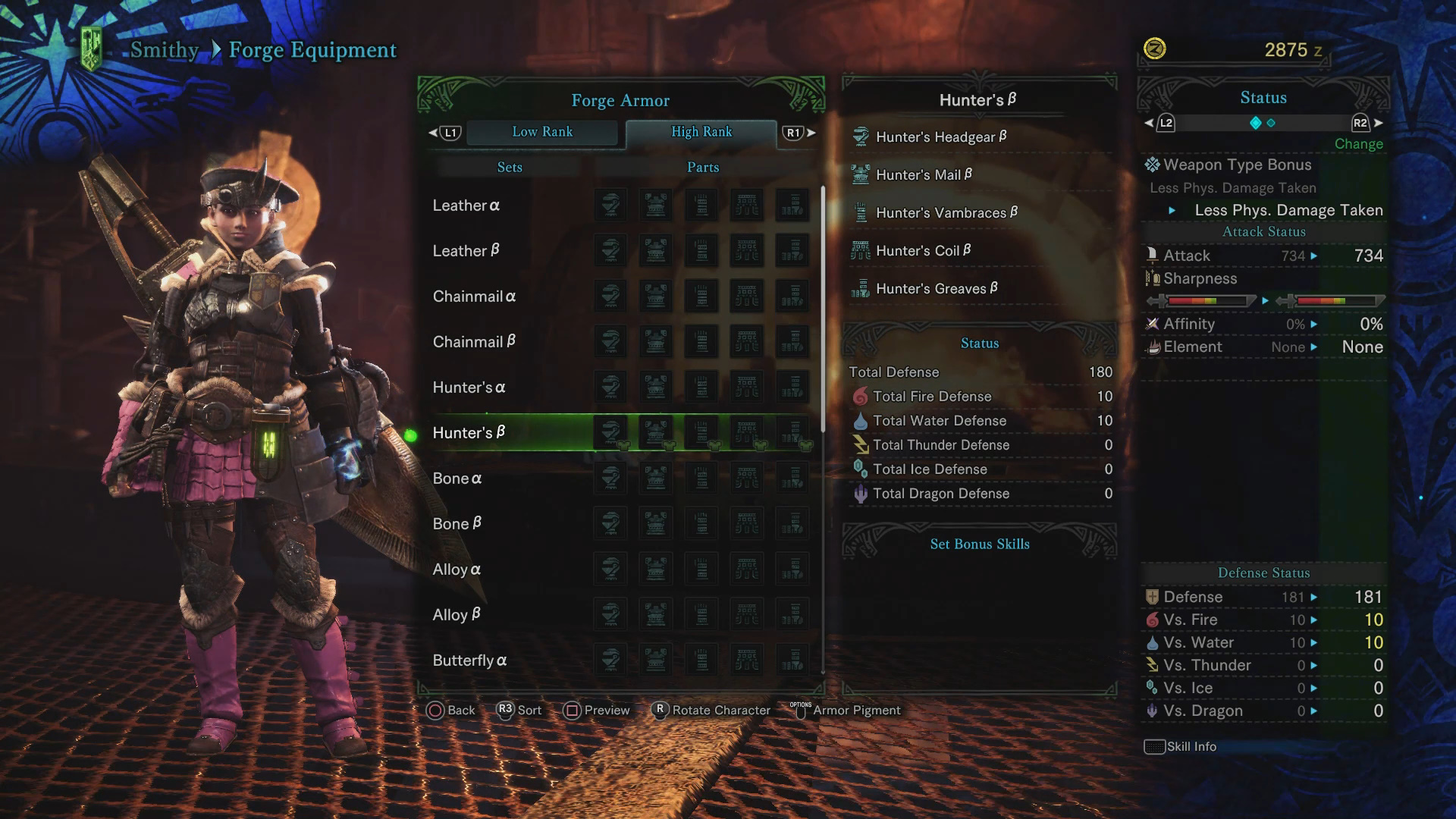High Rank Armor List: Alpha and Beta Sets - Monster Hunter World