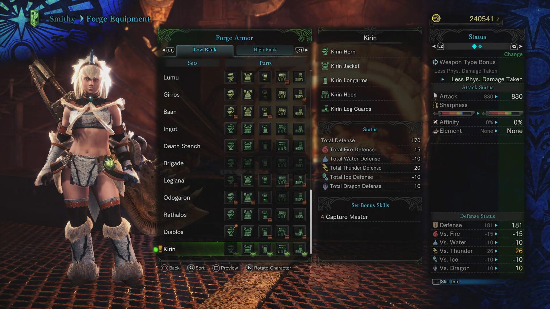 Rarity 4 Armor Sets Monster Hunter World