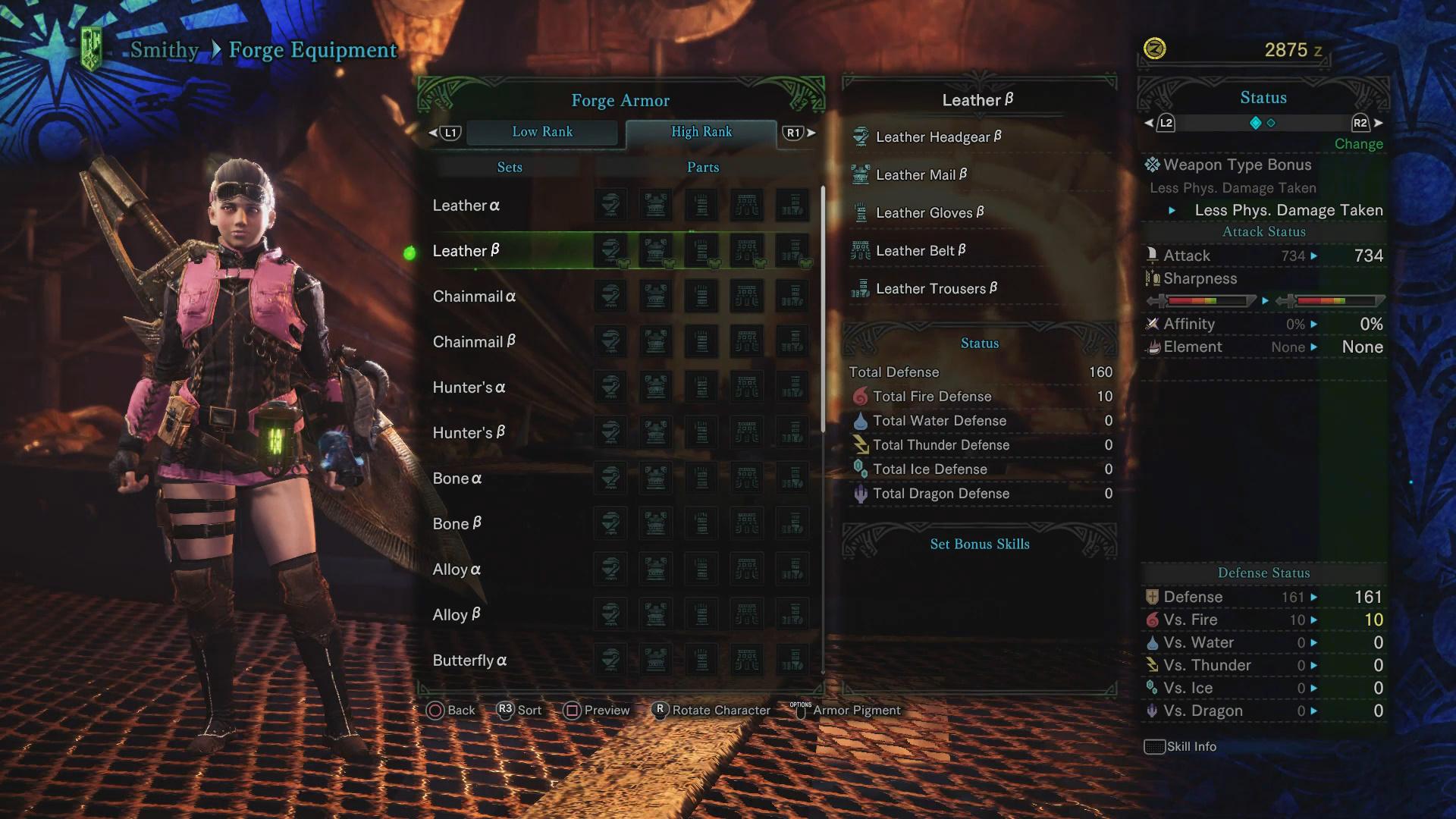 High Rank Armor List Alpha And Beta Sets Monster Hunter World