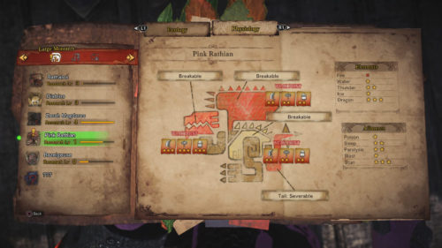 Image of the Pink Rathian Physiology report