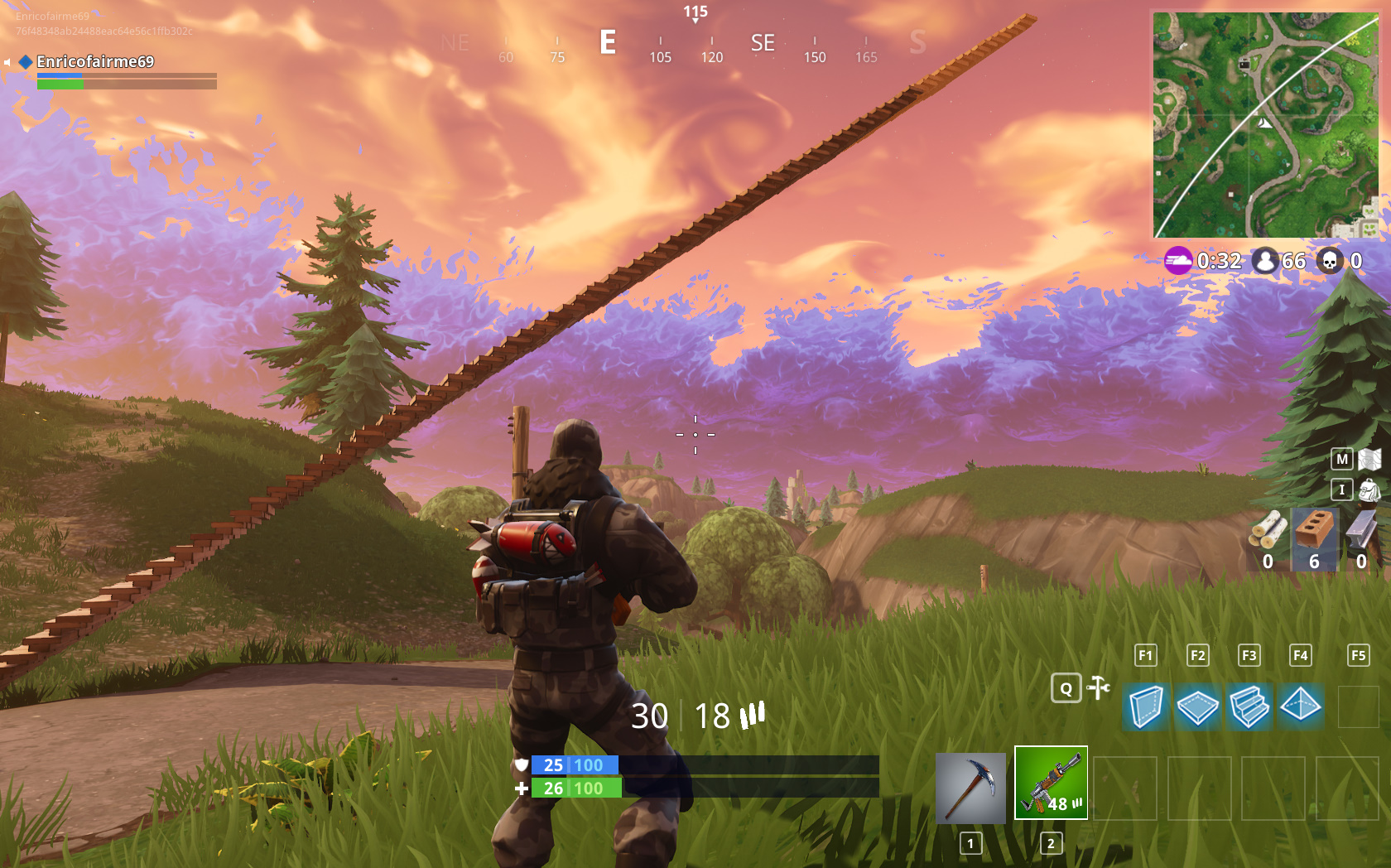 building a stairway to heaven is indeed possible in fortnite battle royale - combat fortnite