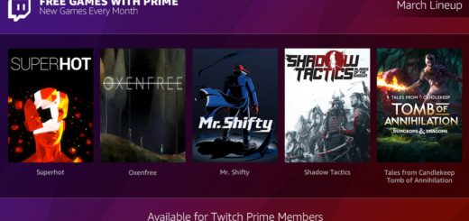 Free Games with Prime for March and April