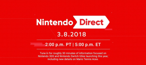 Image of the Nintendo Direct for March 8, 2018