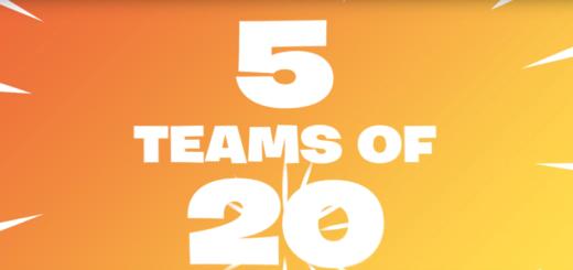 Teams of 20 Fortnite Battle Royale