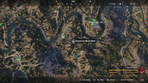 Image of the American Black Bear hunting spot in Far Cry 5.