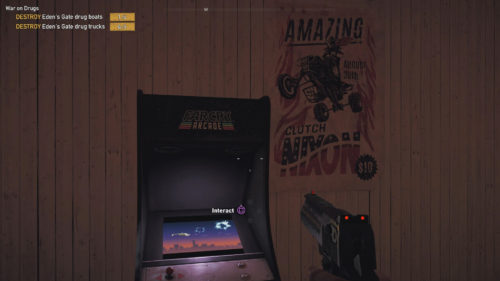 Screenshot of an Arcade Cabinet in Far Cry 5