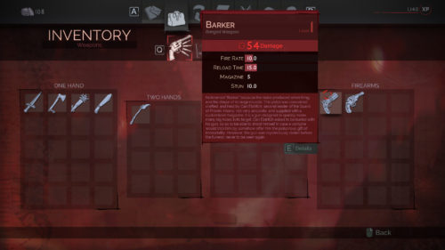 The Barker Weapon in Vampyr.