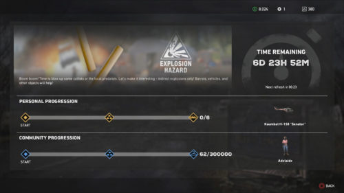 Screenshot of the Explosion Hazard Live Event progression - Far Cry 5 Live Event Guides