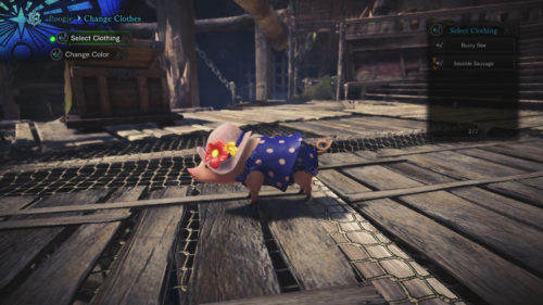 Screenshot of the Seaside Sausage Poogie outfit
