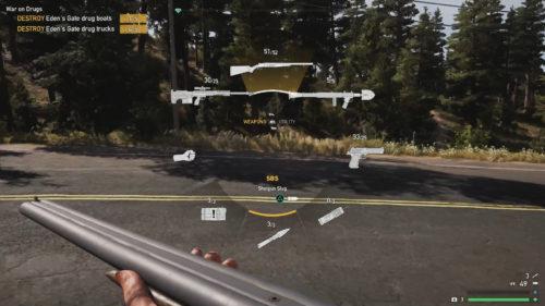 Screenshot of equipping slug ammo in Far Cry 5