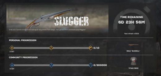 Screenshot of the progression numbers for the Slugger Live Event in Far Cry 5