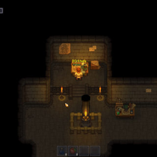 Image of the study table beneath the church in Graveyard Keeper in our Beginner Tips for Graveyard Keeper