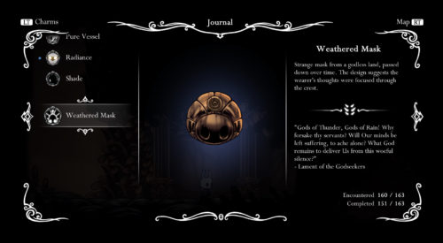 Screenshot of the Weathered Mask.