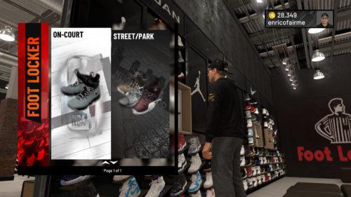FootLocker NBA 2K19 shoes.