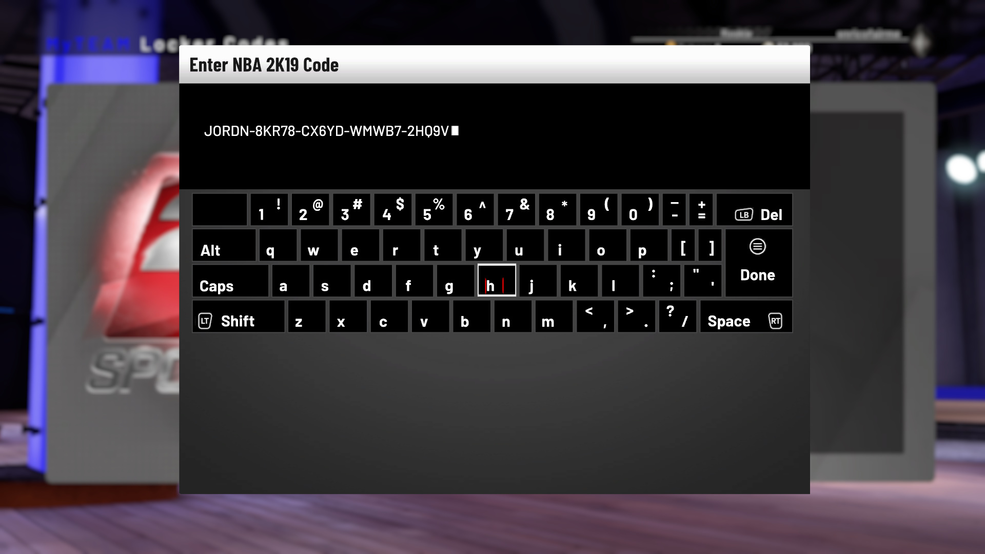NBA 2K19 Locker Codes