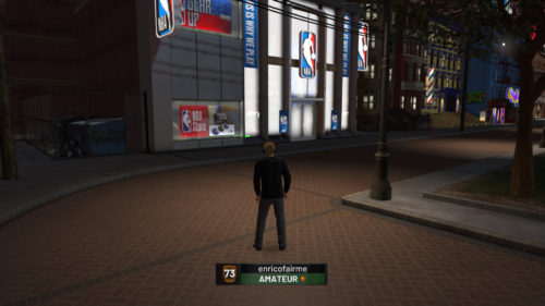 NBA Store NBA 2K19 location.