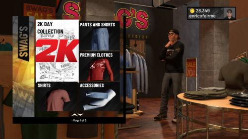 Swag's Main Street Clothing NBA 2K19 location