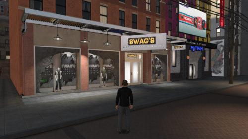 Swag's Main Street Clothing NBA 2K19 location.