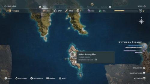 A God Among Men Map Location