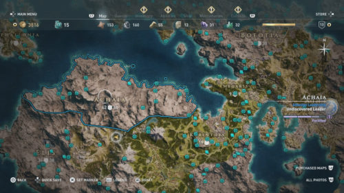 Achaia Collectibles Locations
