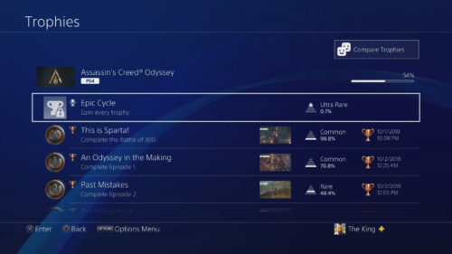 Assassin's Creed Odyssey Trophies Screenshot