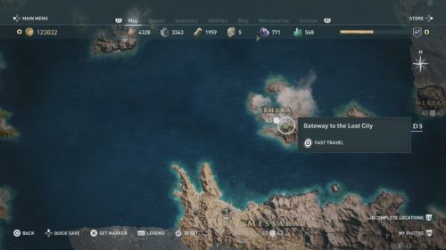 Atlantis Map Location Assassin's Creed Odyssey