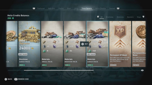 Buying Materials in Assassin's Creed Odyssey