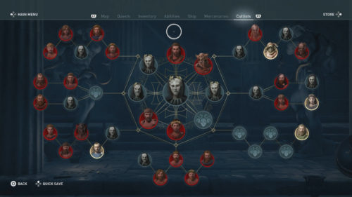 Cultists in Assassin's Creed Odyssey