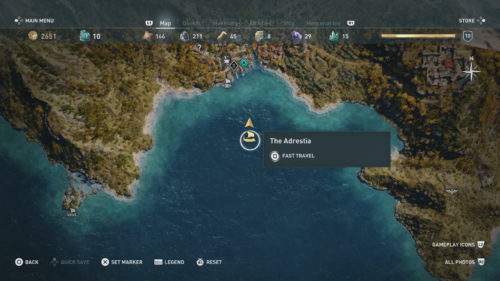 Fast Travel to The Adrestia in Assassin's Creed Odyssey