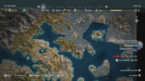 High Recommended Level Islands in Assassin's Creed Odyssey