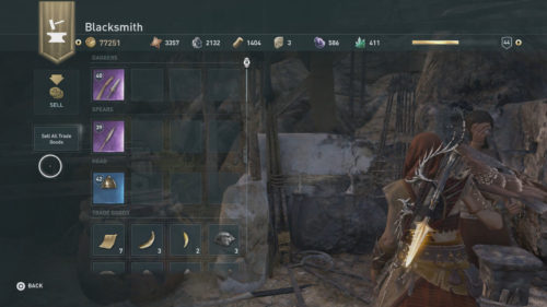 How to sell items in Assassin's Creed Odyssey