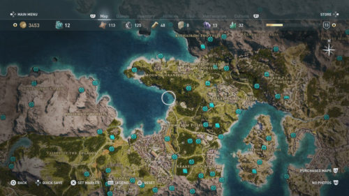Megaris collectibles locations map