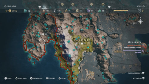 Messenia Collectibles Locations