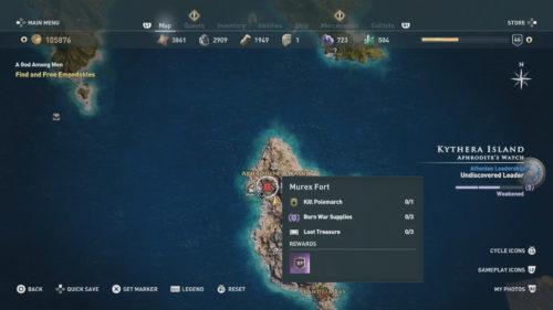 Empedokles Location Assassin's Creed Odyssey