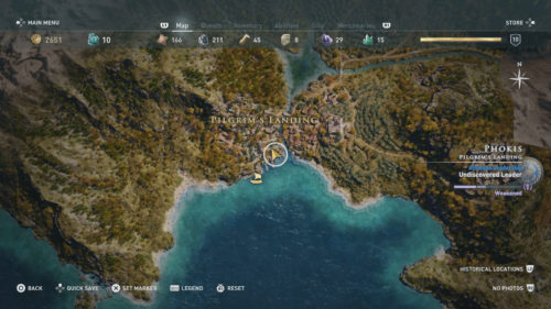 Oikos Location Assassin's Creed Odyssey